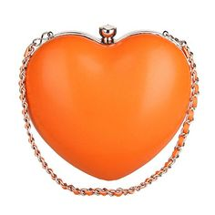 My Wonderful World Womens Clasp Heart Party Shoulder Bag Orange * To view further for this item, visit the image link.