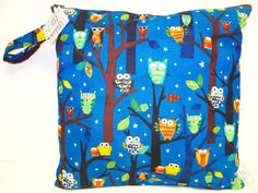 Medium Wet Bag  Wet Bag  14 X 14  Forest Fun by americancountry,