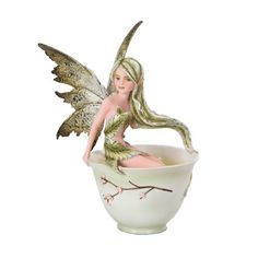 Amy Brown Green Tea Faery in Tea Cup Statue Fairy Sculpture Sweet Addictions ATL http://www.amazon.com/dp/B00KC502TW/ref=cm_sw_r_pi_dp_rgPMub02XGNVW