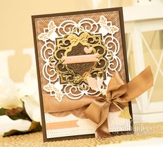 Elegant Spellbinders Loving You Card by Yana Smakula