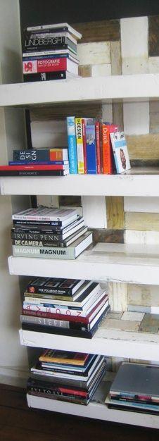 """boekenwand, Piet Hein """"Ted""""-;)  eigen fabrikaat"""