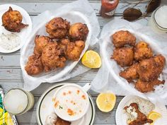 These crisp savory doughnuts, a specialty of Rhode Island clam shacks, are bursting with clam flavor. Saveur Recipes, Clam Recipes, Seafood Recipes, New Recipes, Cooking Recipes, Favorite Recipes, Restaurant Recipes, Easy Recipes, Recipies