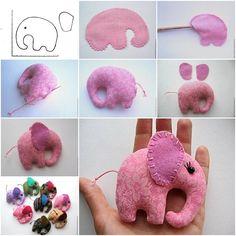 How to make Pocket Elephant step by step DIY tutorial instructions, How to, how to make, step by step, picture tutorials, diy instructions, craft, do it yourself