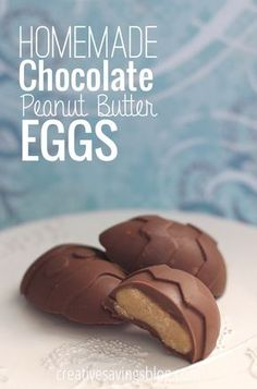 These homemade chocolate peanut butter eggs are in some serious competition with Reese