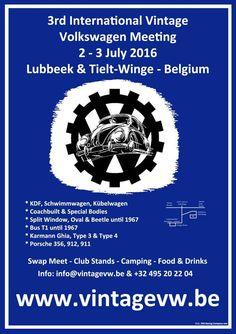 3rd International Vintage VW Meeting, 2 – 3 July 2015. Lubbeek, Belgium