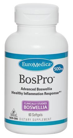 Boswellia, also known as frankincense, has been a vital component of Ayurvedic medicine for thousands of years. Modern research has confirmed the effectiveness of boswellia for supporting a healthy inflammation response.*† •Features clinically studied, uniquely standardized BOS-10™/  BosPure® boswellia • Up to 10 times more AKBA than unstandardized boswellia–  no spiking to increase this beneficial compound • Purified to reduce undesirable beta-boswellic acid (BBA) content