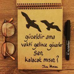 Kuşlar güzeldir ama vakti gelince göçerler, sen kalacak mısın?   - Tunç İlkman  #sözler #anlamlısözler #güzelsözler #manalısözler #özlüsözler #alıntı #alıntılar #alıntıdır #alıntısözler
