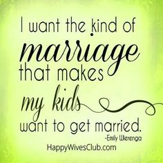 Marriage is beautiful!