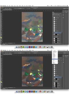 Work in progress: adding an effect (exclusion) to the layer of grey