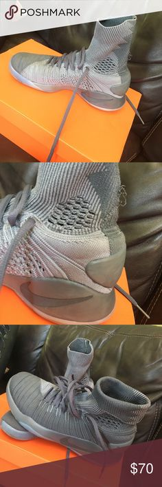 Nike Hyperdunk 2016 Flyknit Gray Nike Men's Shoes. Wore only 4 times Nike Shoes Athletic Shoes
