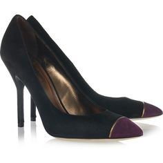 Yves Saint Laurent Opyum suede pumps ($299) ❤ liked on Polyvore featuring shoes, pumps, heels, sapatos, ysl, black suede shoes, suede pumps, pointed-toe pumps, pointy-toe pumps and high heel shoes