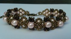 Video:  Super-duo and pearl bracelet #Seed #Bead #Tutorials