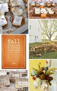 Rustic Fall Rehearsal Dinner Inspiration | WeddingWire: The Blog