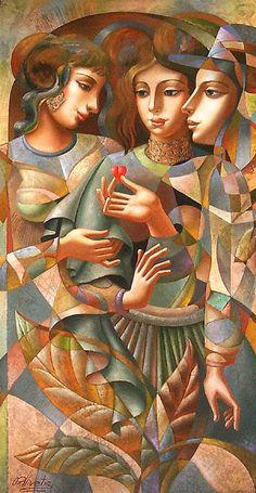 Artist: Oleg Zhivetin, Title: Three Graces