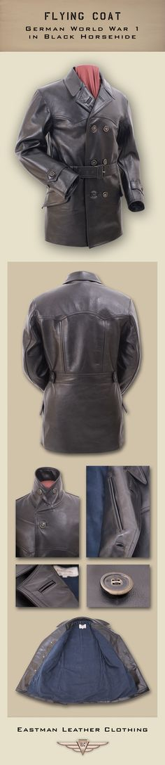 Eastman Leather Clothing - German Flight Jackets : Ww1blacklfli