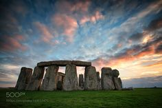 Solo Stonehenge Sunset by patch #travel #traveling #vacation #visiting #trip #holiday #tourism #tourist #photooftheday #amazing #picoftheday