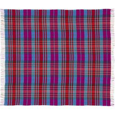 Free Shipping.  Shop lambswool multicolor plaid throw.   Woven by Avoca, a family-run Irish mill that's been weaving artisan woolens on the Emerald Isle since 1723.  This 100% pure lambswool throw was designed exclusively for CB2.