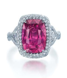 JB Star is known for designing some of the most extravagant jewelry, full of large gems and brilliant diamonds, and this pink sapphire ring is no different!