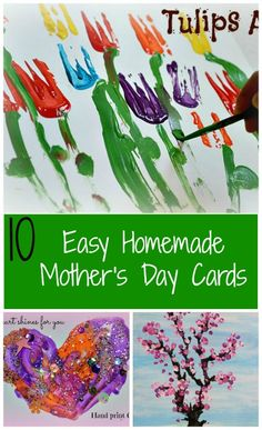 Homemade Mother's day card ideas #mothersdaycrafts