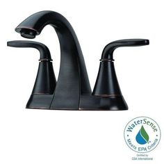 Pfister Pasadena 4 in. Centerset 2-Handle Bathroom Faucet in Tuscan Bronze-LF-048-PDYY - The Home Depot