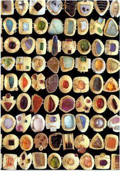 Sydney Lynch, Bracelets, Sterling, 18 and 22k gold, various stones