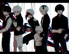 The different stages of Kaneki