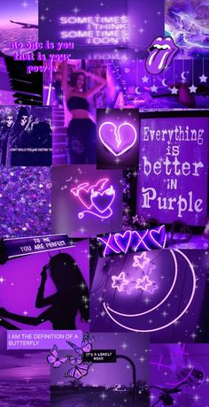 Purple Aesthetic Collage Wallpaper