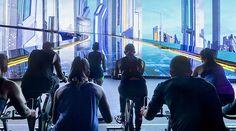 virtual reality sports gym japan tokyo shibuya the trip bike cycling