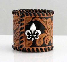 how to make leather cuffs | cuff bracelets with several designs that will complete your appearance