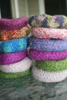 felted wool bangle bracelet