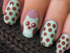 The Cute Owl Nail Art by Cutepolish is Ready for Spring