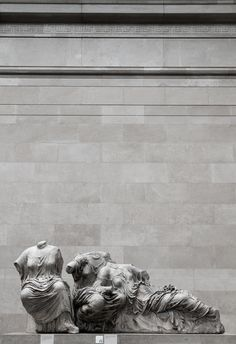 "East pediment of the Parthenon. Headless Pediment by Dimitri Androutsos the so called ""Elgin"" marbles taken from the Parthenon. Museum Architecture, Art And Architecture, Stone Sculpture, Sculpture Art, Elgin Marbles, Parthenon, Acropolis, Ancient Greek Art, Ancient History"
