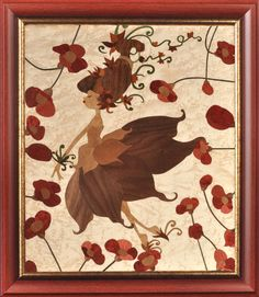 A beautiful #marquetry picture, astonishing contemporary #wood #art