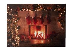 Fireplace - Remote Control LED Canvas