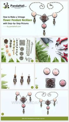 Jewelry Making Tutorial-How to Make a Vintage Flower Pendant Necklace | PandaHall Beads Jewelry Blog