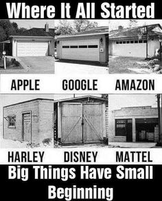 Big Things have Small Beginnings and We Know it Well!  Start Something this Week!! #MondayMotivation