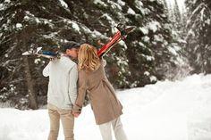 couple, ski holiday