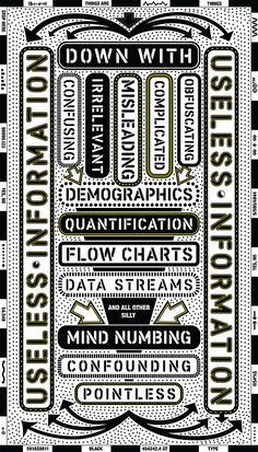 Paula Scher's visual complaint about useless information