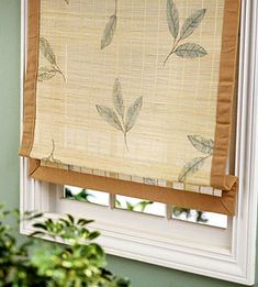 Try one of our simple projects to dress up plain roller shades or bamboo blinds with paint, stencils, and stamps. A list of materials and instructions are included.