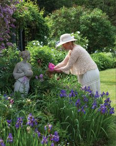"""Carolyn Aiken: Where Love Grows  'As Carolyn Aiken takes an early morning stroll through her garden in the idyllic Canadian community of Warren Grove, the cheerful lilt of birdsong and the staccato whirr of darting dragonflies blend in a stirring symphony that accompanies her steps."""" via Victoria Magazine"""