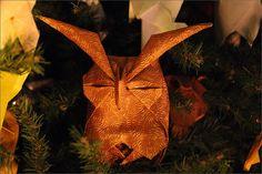 An origami owl.
