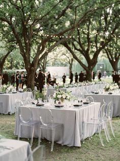 Wedding Inspiration – Black, Grey & Sage Green. Outdoor wedding with grey linens. #weddinginspiration http://www.theweddingguru.ca/wedding-inspiration-black-grey-sage/