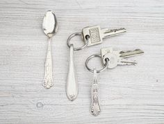 Besteck-Schlüsselanhänger Bauanleitung zum selber bauen