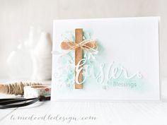 Debby Hughes - Lime Doodle Design http://limedoodledesign.com/2015/03/easter-blessings/ #Easter #card #cross