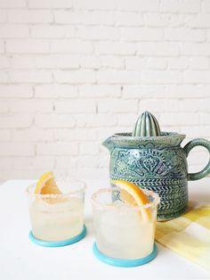 skinny grapefruit margarita with vanilla salt rim | coco+kelley