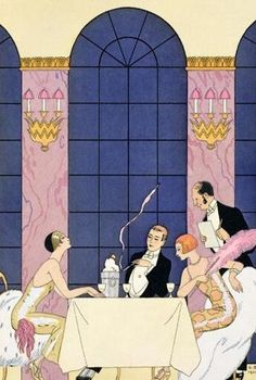 The Gourmands by George Barbier