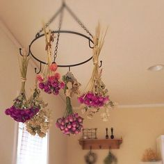 Drying flowers as indoor decoration