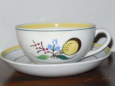 Arabia Windflower Cup and Saucer Made in Finland - Beautiful!!