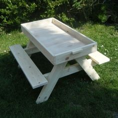 Pick nick bench with enclosed area.