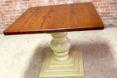 Surprising Square Wooden Pedestal Table Bases Tables - Farmhouse table pedestal base